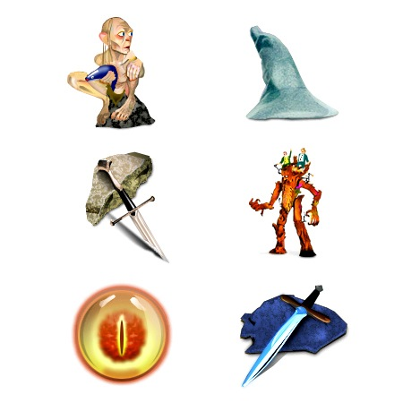 Lord of the rings-icons-iconshock