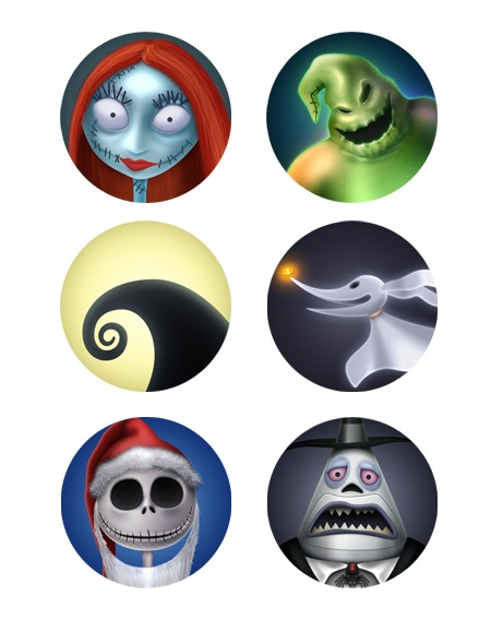 Nightmare before Christmas-icons-iconshock
